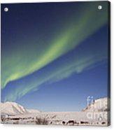 Aurora Borealis With Moonlight Acrylic Print