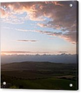 Beautiful English Countryside Landscape Over Rolling Hills Acrylic Print