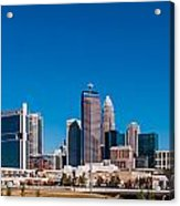 Charlotte City Skyline Autumn Season Acrylic Print