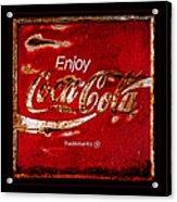 Coca Cola Classic Vintage Rusty Sign Acrylic Print
