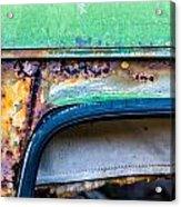 Colored Rust Metal Acrylic Print