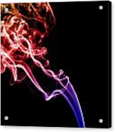 Colourful Smoke Acrylic Print