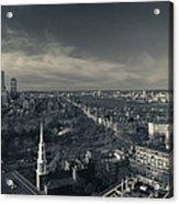 High Angle View Of A City Acrylic Print
