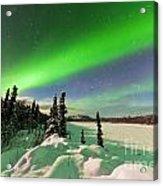 Intense Display Of Northern Lights Aurora Borealis Acrylic Print