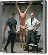 12. Jesus Is Beaten / From The Passion Of Christ - A Gay Vision Acrylic Print