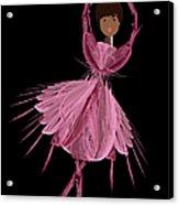 12 Pink Ballerina Acrylic Print