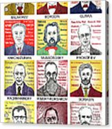 12 Russian Composers Acrylic Print