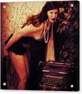 Typewriter Erotica Acrylic Print