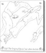 Oh, Crap! I Left 'the Origin Of Species' Acrylic Print