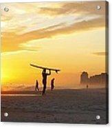 12002 Orange Beach Sunset Acrylic Print