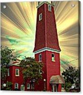 126 Hiding The Sun Acrylic Print by MJ Olsen