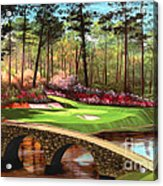 12th Hole At Augusta  Acrylic Print by Tim Gilliland