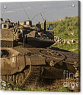 An Israel Defense Force Merkava Mark Iv Acrylic Print