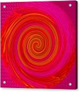 Red Energy-spiral Acrylic Print