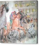 Italian Il Palio Horse Race Album Acrylic Print