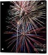 Local Fireworks Acrylic Print by Mark Dodd