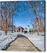 Snow Around Billy Graham Library After Winter Storm Acrylic Print