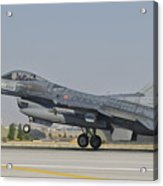 Turkish Air Force F-16 During Exercise Acrylic Print