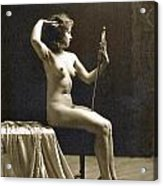 Vintage Nude Postcard Image Acrylic Print