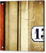 13 With Wooden Door Acrylic Print