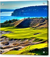 #14 At Chambers Bay Golf Course - Location Of The 2015 U.s. Open Tournament Acrylic Print