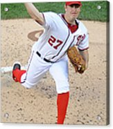 Atlanta Braves V Washington Nationals 14 Acrylic Print