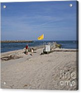 Fishing At Sebastian Inlet In Florida Acrylic Print