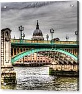 Southwark Bridge London Acrylic Print