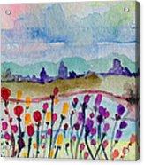Melancholy Flowers For Yarnell Acrylic Print