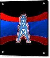 Houston Oilers Acrylic Print