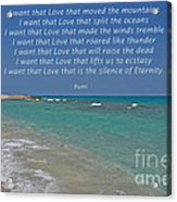 151- Rumi Acrylic Print