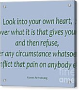 156- Karen Armstrong Acrylic Print