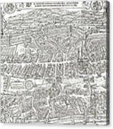 1576 Zurich Switzerland Map Acrylic Print