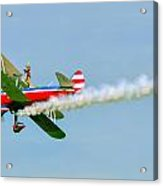 Action In The Sky During An Airshow Acrylic Print