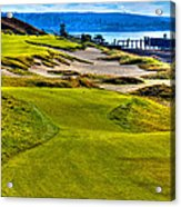 #16 At Chambers Bay Golf Course - Location Of The 2015 U.s. Open Championship Acrylic Print by David Patterson