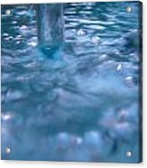 Australia - Deep Blue White Water Colour Acrylic Print