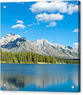 Lake With Mountains In The Background Acrylic Print