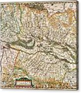 1644 Jansson Map Of Alsace Basel And Strasbourg Geographicus Alsatiasuperior Jansson 1644 Acrylic Print