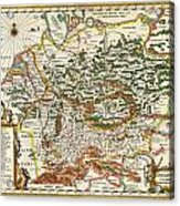 1657 Jansson Map Of Germany Germania Geographicus Germaniae Jansson 1657 Acrylic Print