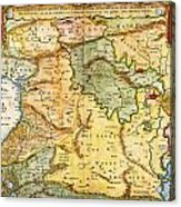 1657 Visscher Map Of The Holy Land Or The Earthly Paradise Geographicus Gelengentheyt Visscher 1657 Acrylic Print