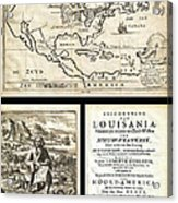 1688 Hennepin First Book And Map Of North America First Printed Map To Name Louisiana Geographicus N Acrylic Print