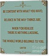 169- Lao Tzu Acrylic Print