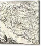 1690 Coronelli Map Of Montenegro Acrylic Print