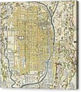 1696 Genroku 9 Early Edo  Japanese Map Of Kyoto Japan Geographicus Kyoto Genroku9 1696 Acrylic Print