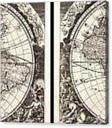 1696 Zahn Map Of The World In Two Hemispheres Geographicus World Zahn 1696 Acrylic Print
