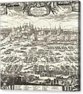 1697 Pufendorf View Of Krakow Cracow Poland Acrylic Print
