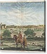1698 De Bruijin View Of Bethlehem Palestine Israel Holy Land Acrylic Print