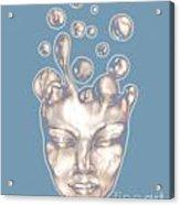 16x20 Slow Boil Snow Spirit Blue Acrylic Print