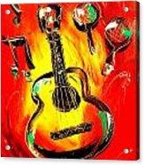 Guitar Acrylic Print by Mark Kazav