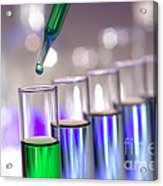 Laboratory Test Tubes In Science Research Lab Acrylic Print